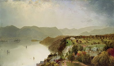 View of Cozzen&39;s Hotel Near West Point, NY, 1863