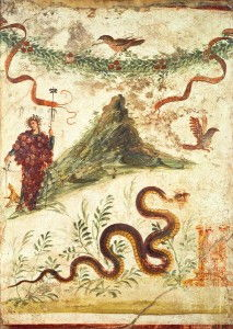 Bacchus Standing Before Vesuvius, from the House of the Centenary, Pompeii, Fourth Style, 1st century AD