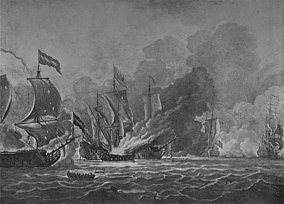 The Burning of the Royal James, c1700