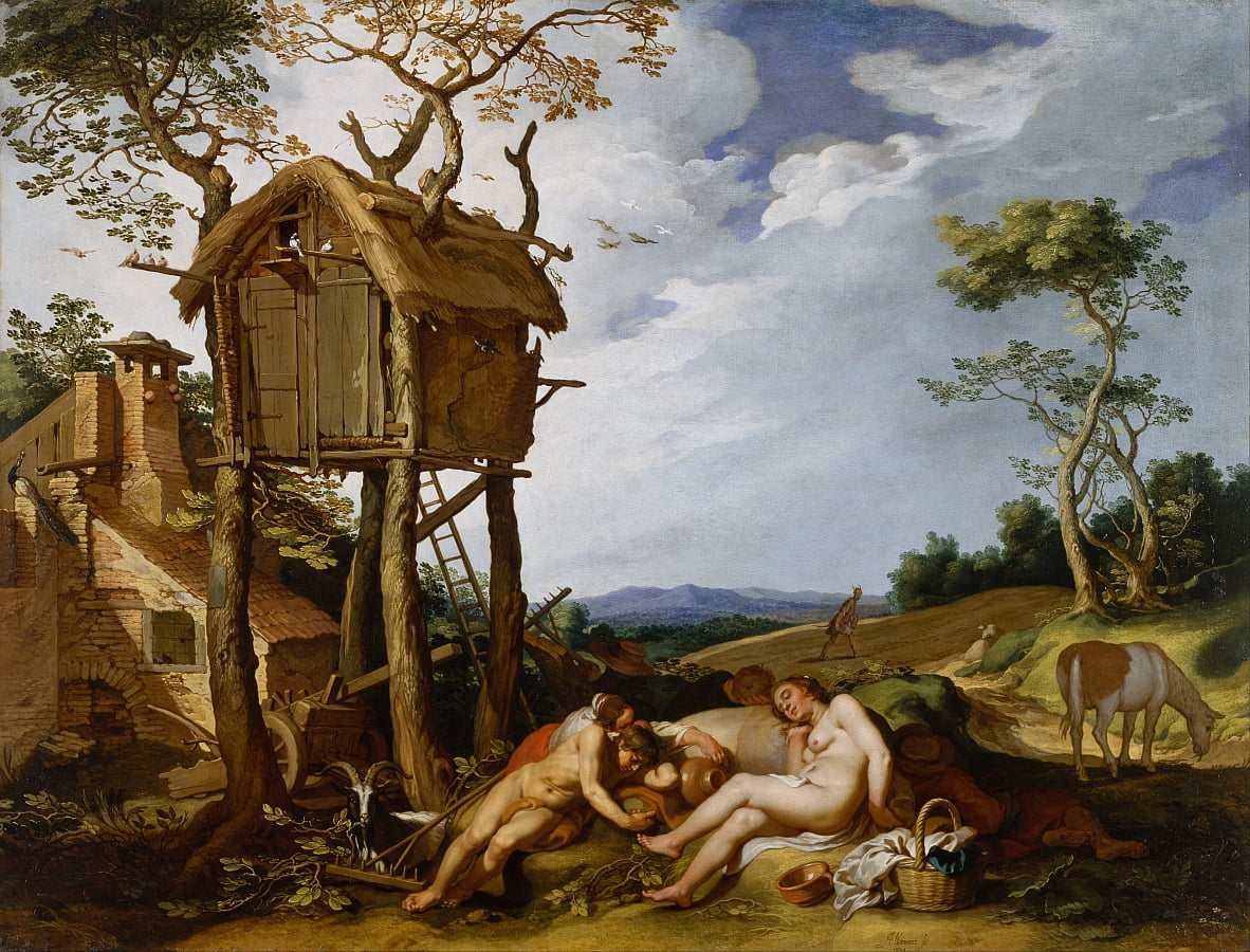 Parable of the Wheat and the Tares door Abraham Bloemaert