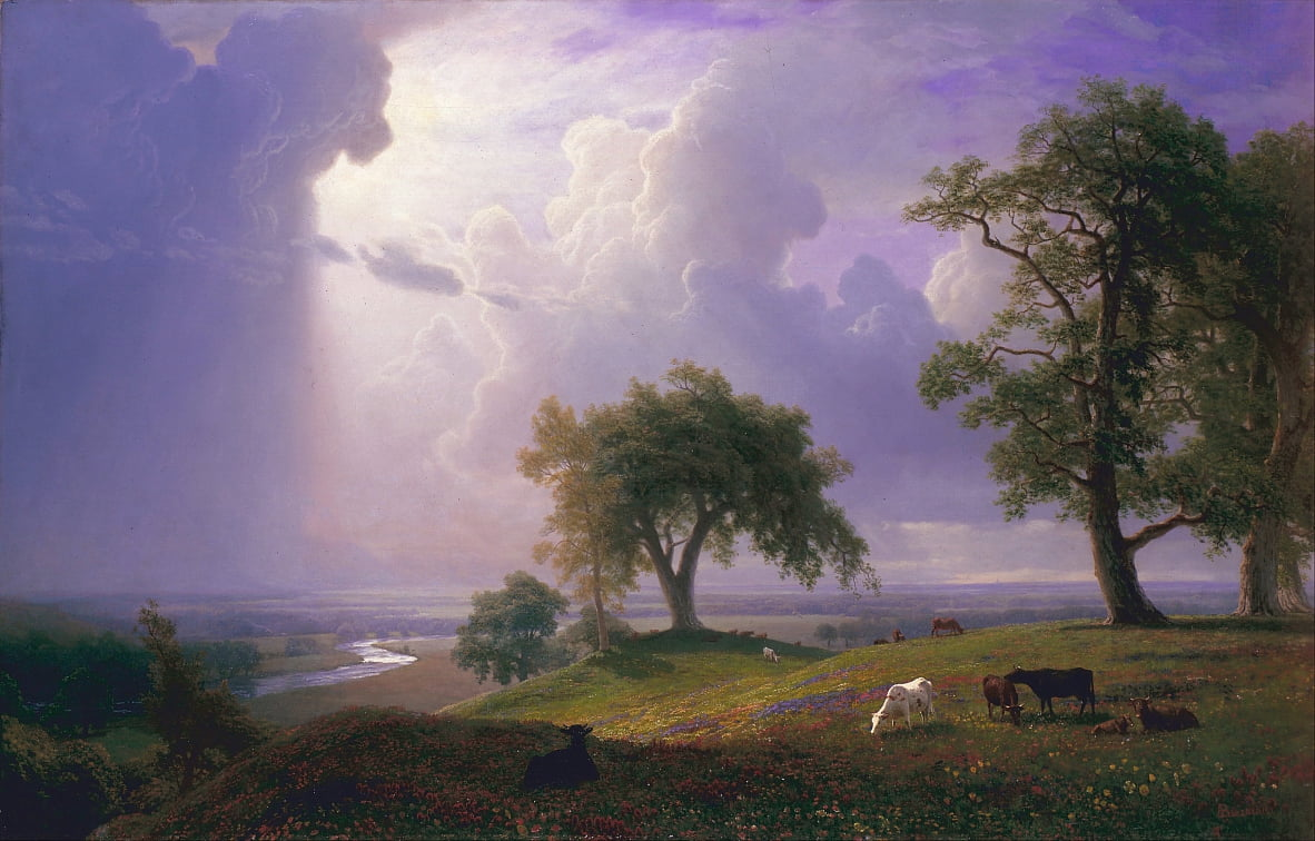 California Spring door Albert Bierstadt