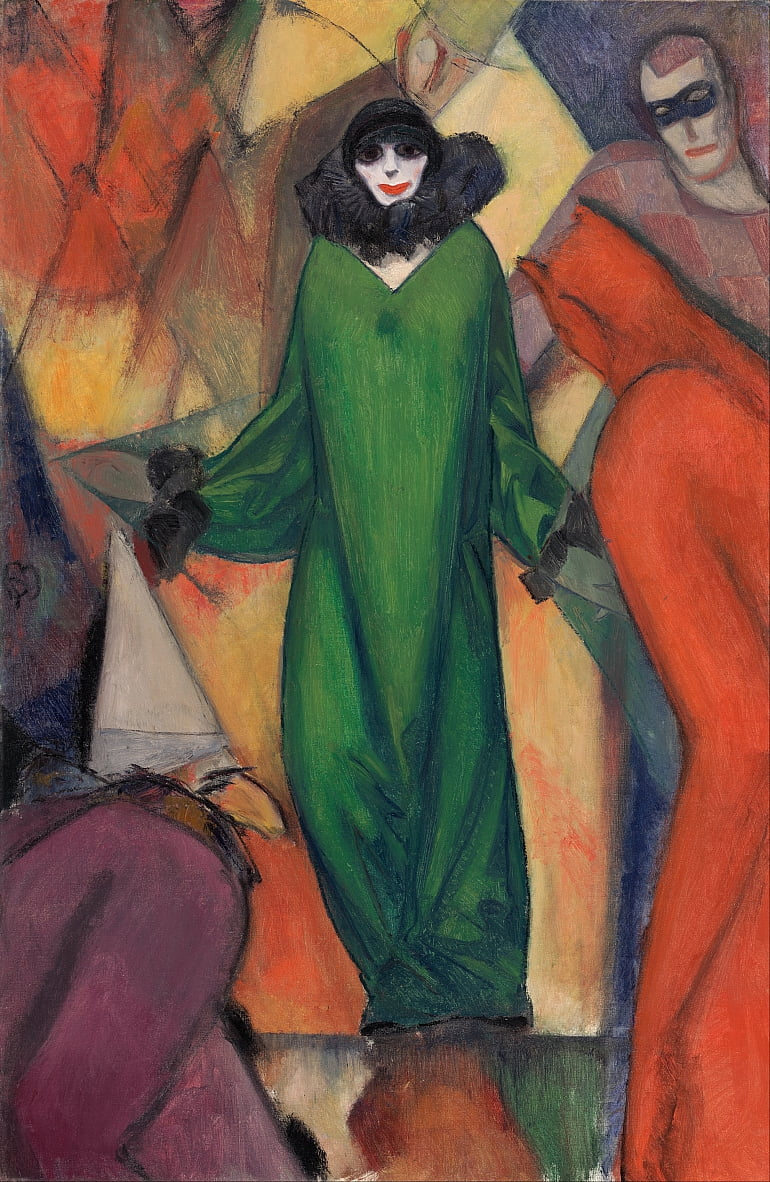 The Green Domino door Albert Bloch