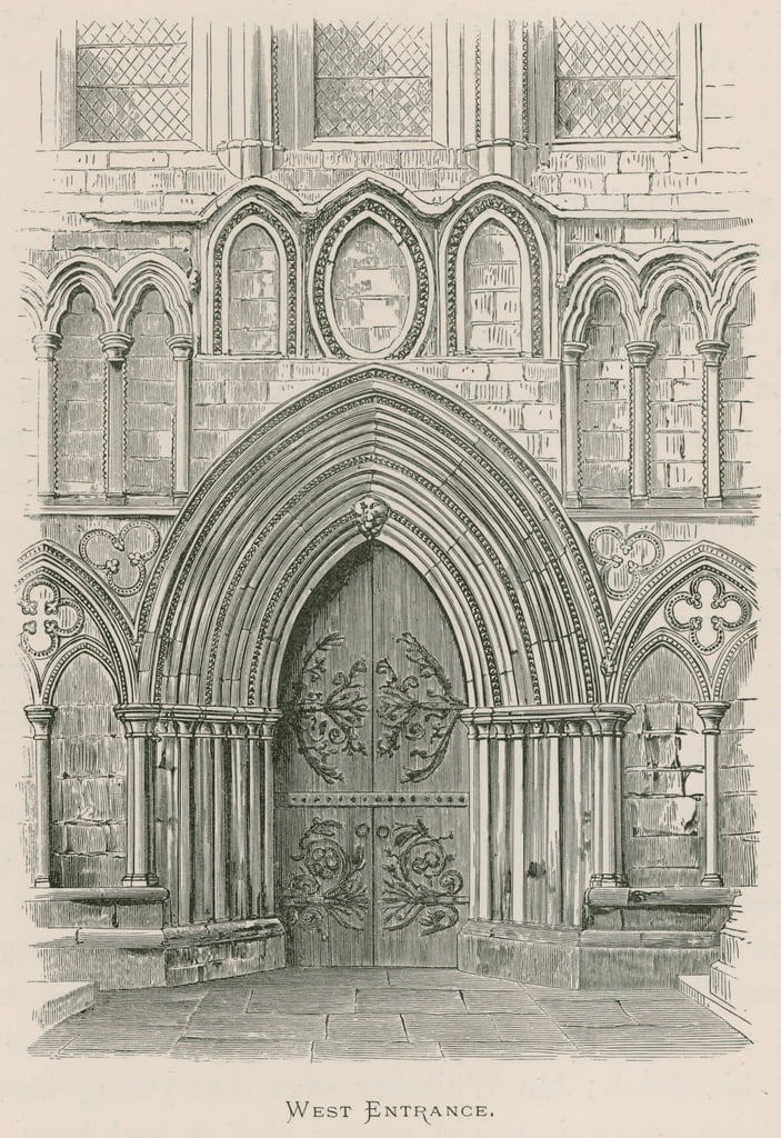 Bolton Priory, West Entrance door Alexander Francis Lydon