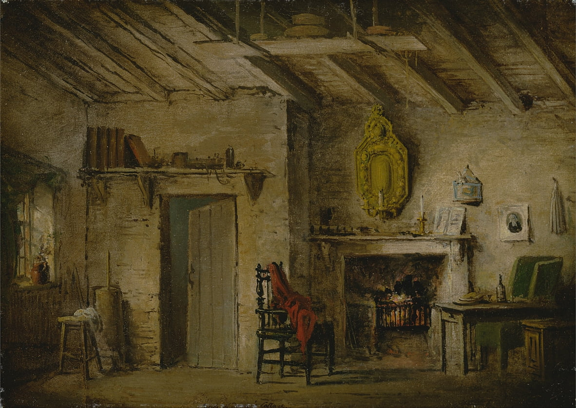 Stageontwerp voor Heart of Midlothian; Deans Cottage door Alexander Nasmyth