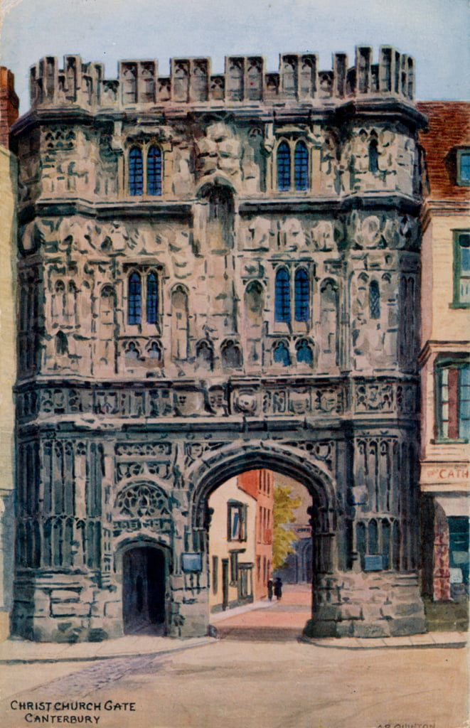 Christ Church Gate, Canterbury door Alfred Robert Quinton