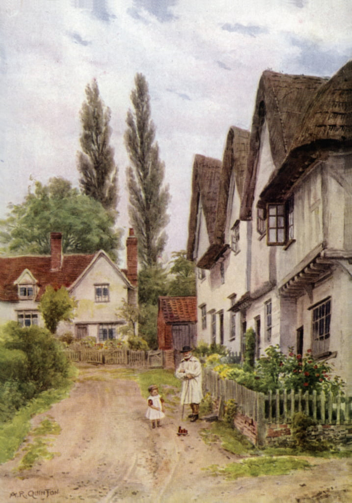 The Three Gables, Kersey, Suffolk door Alfred Robert Quinton