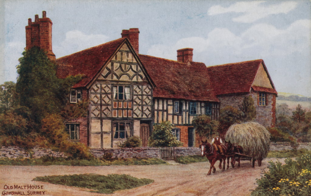 Old Malt House, Gomshall, Surrey door Alfred Robert Quinton