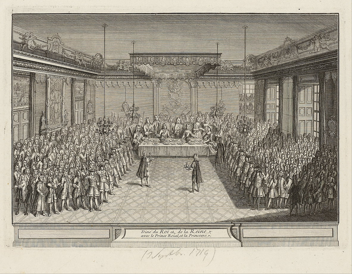 Showpiece-banket in de Corner Parade Hall in Dresden Palace op 3 september 1719 door Antoine Aveline