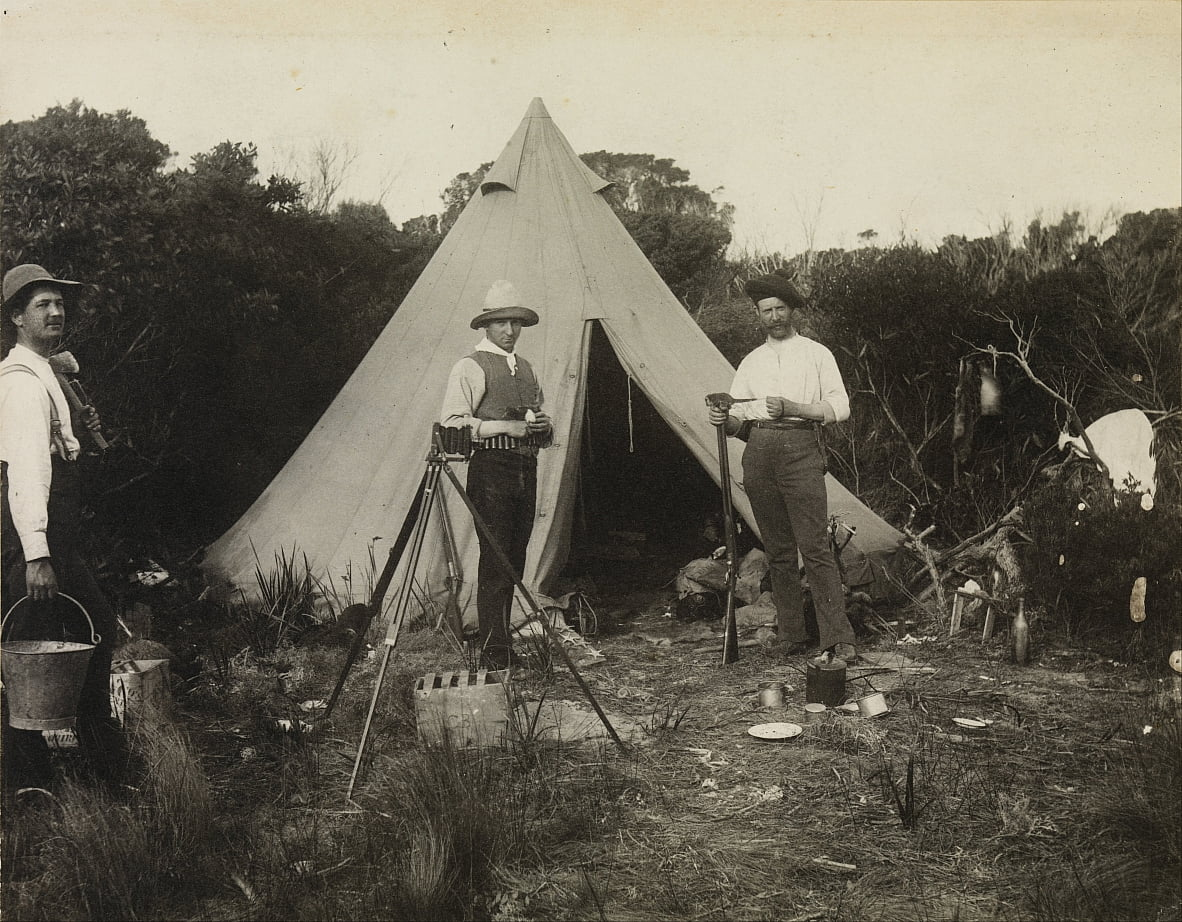 Camp View, Field Naturalists &39;Club Expedition to King Island door Archibald James Campbell