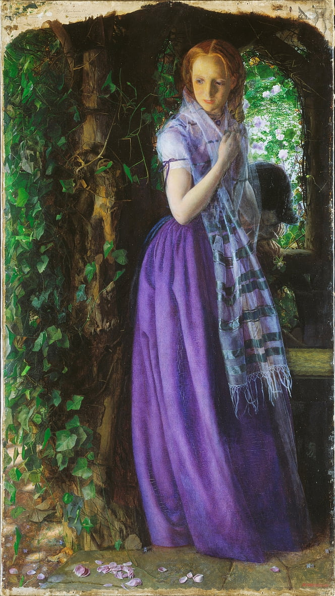 April Love door Arthur Hughes