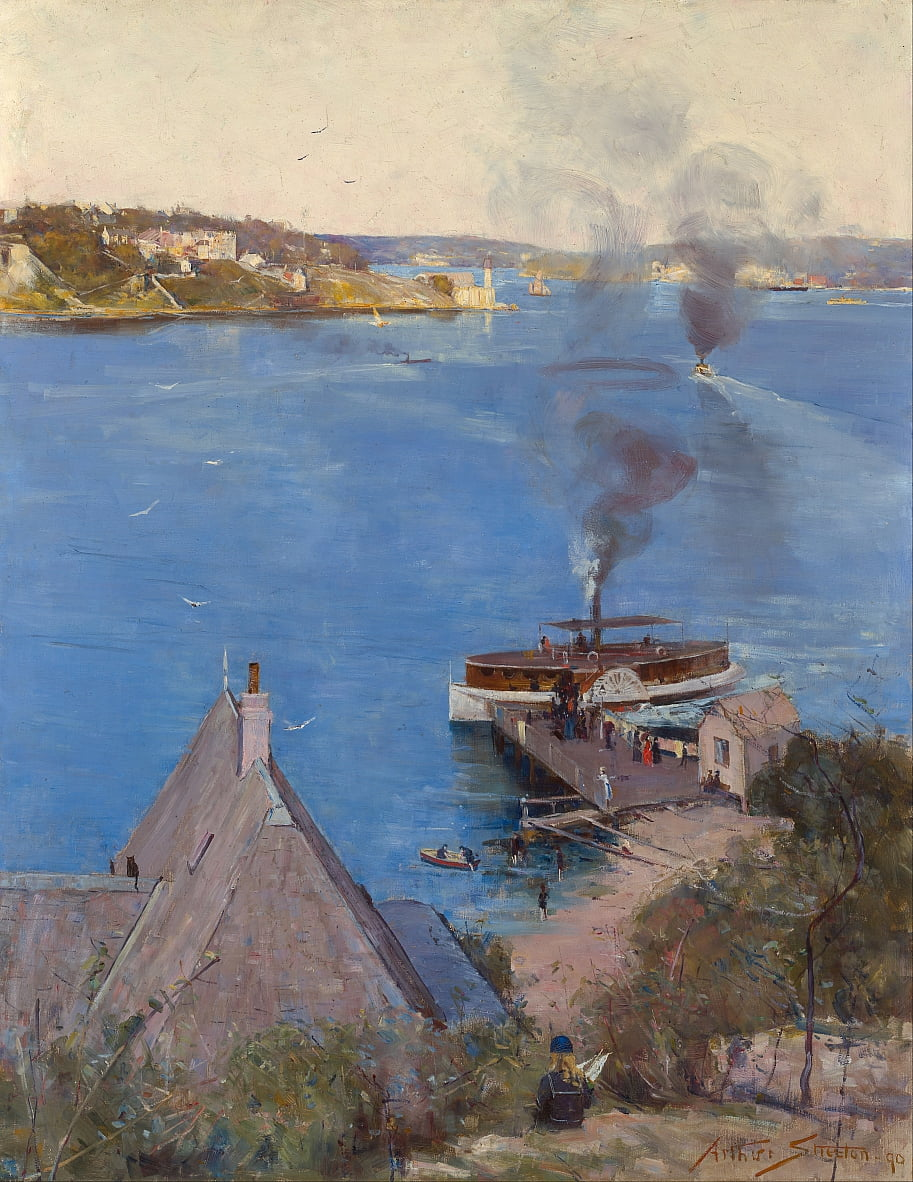 Van McMahons Point door Arthur Streeton