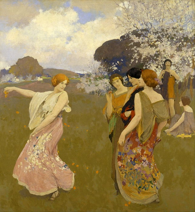 Spring Dance, c. 1917 door Arthur Frank Mathews