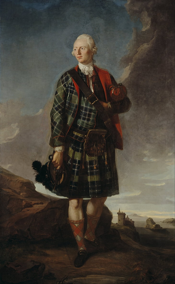 Sir Alexander Macdonald (Sir Alexander MacDonald of Sleat), 1744 door Attributed to Sir George Chalmers