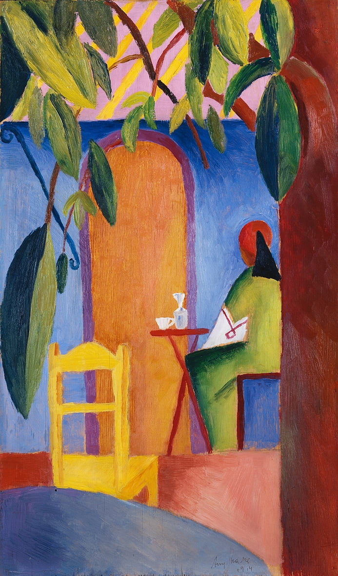 Turks café door August Macke