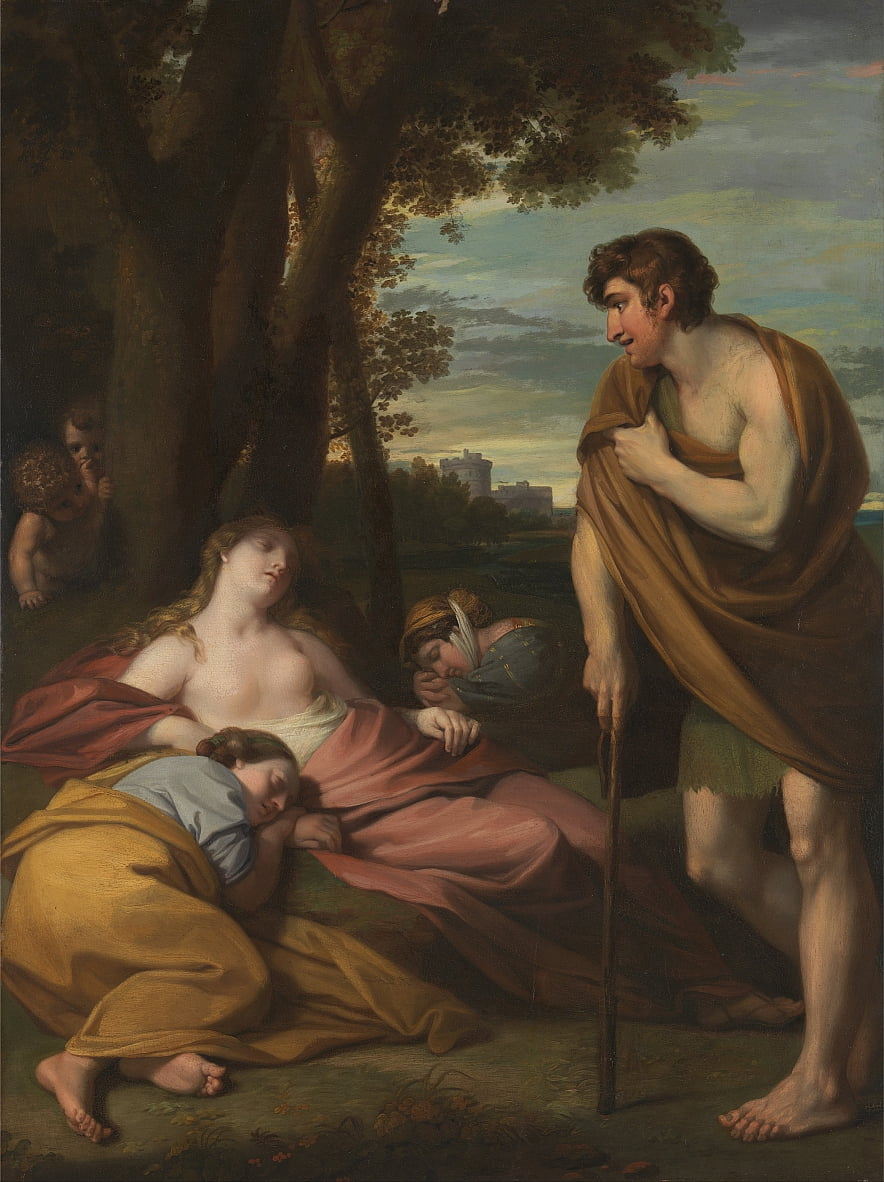 Cymon en Iphigenia door Benjamin West