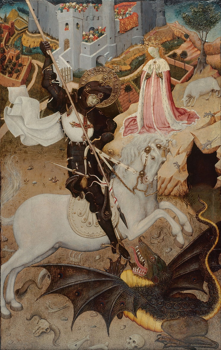 Saint George Killing the Dragon door Bernat Martorelli