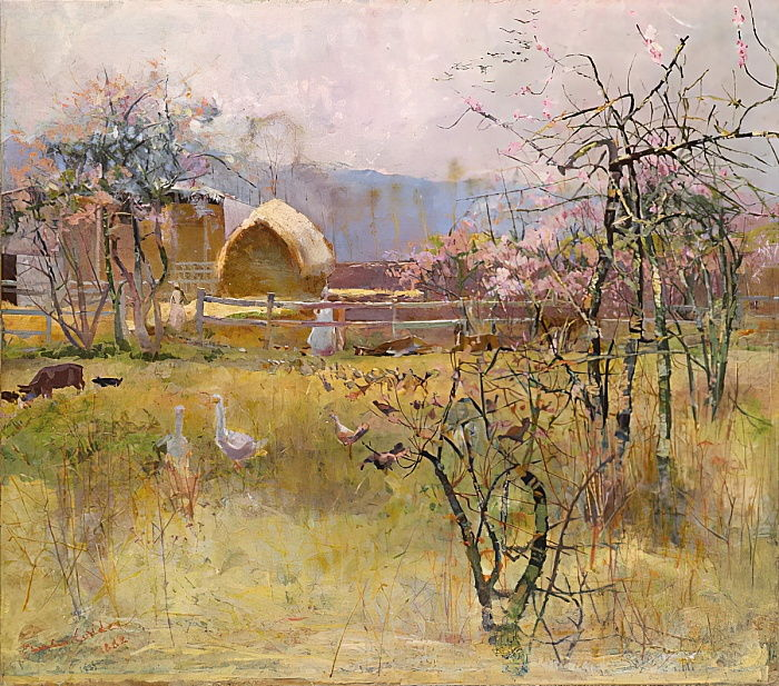 The Farm, Richmond, New South Wales, 1888 door Charles Edward Conder