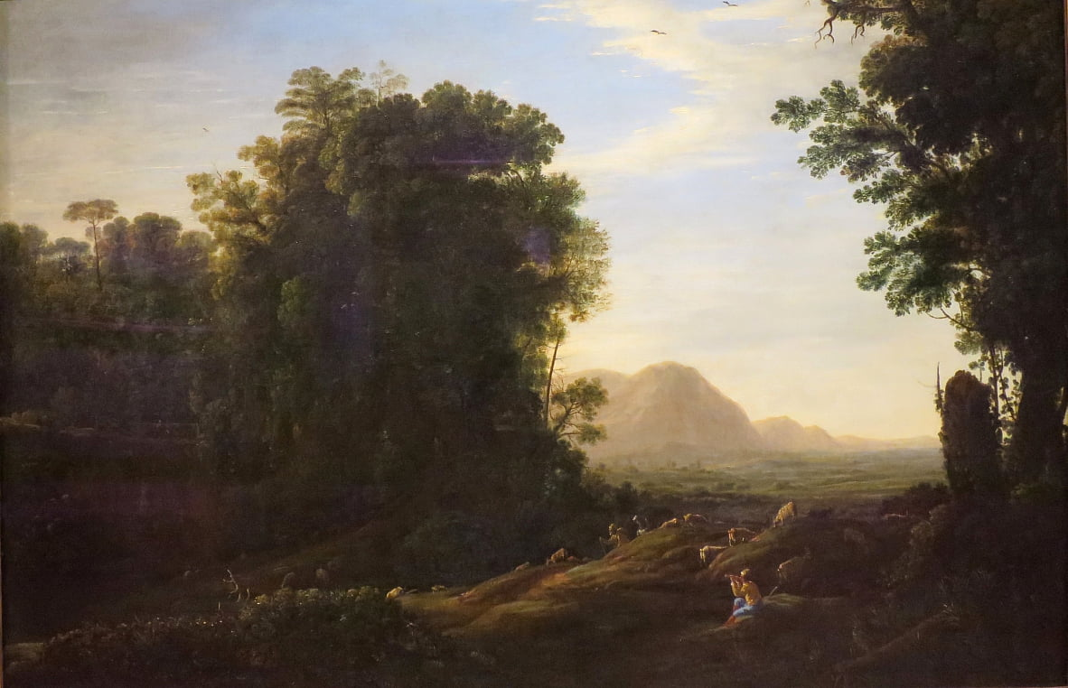 Landschap met een Piping Shepherd door Claude Lorrain