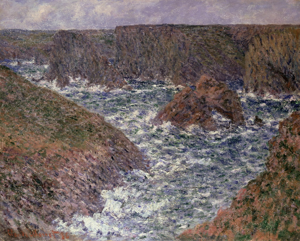 Port Domois op Belle Ile, 1886 door Claude Monet