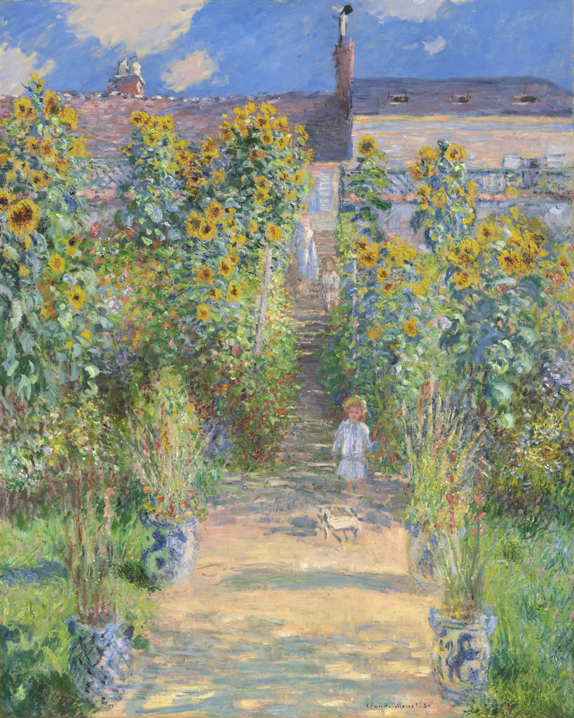 The Artist's Garden in Vetheuil, 1880 door Claude Monet
