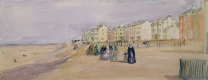 The Sea Front bij Blackpool door David Cox