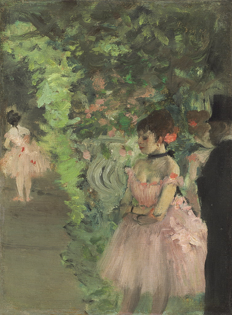 Dansers Backstage, 1876-1883 door Edgar Degas