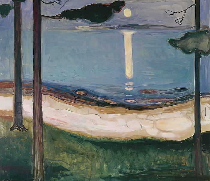 Moonlight, 1895 door Edvard Munch