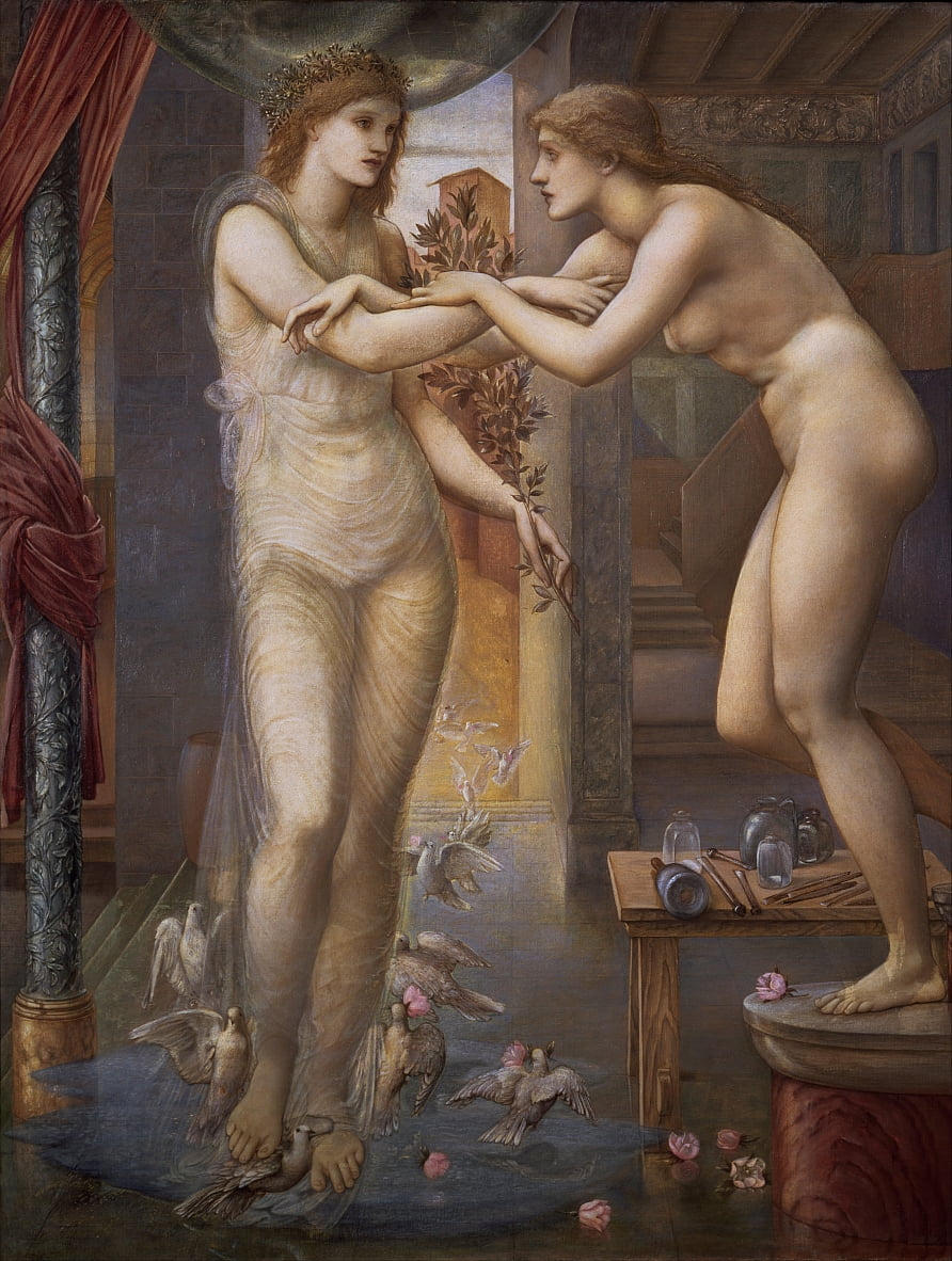 Pygmalion en de afbeelding door Edward Burne Jones