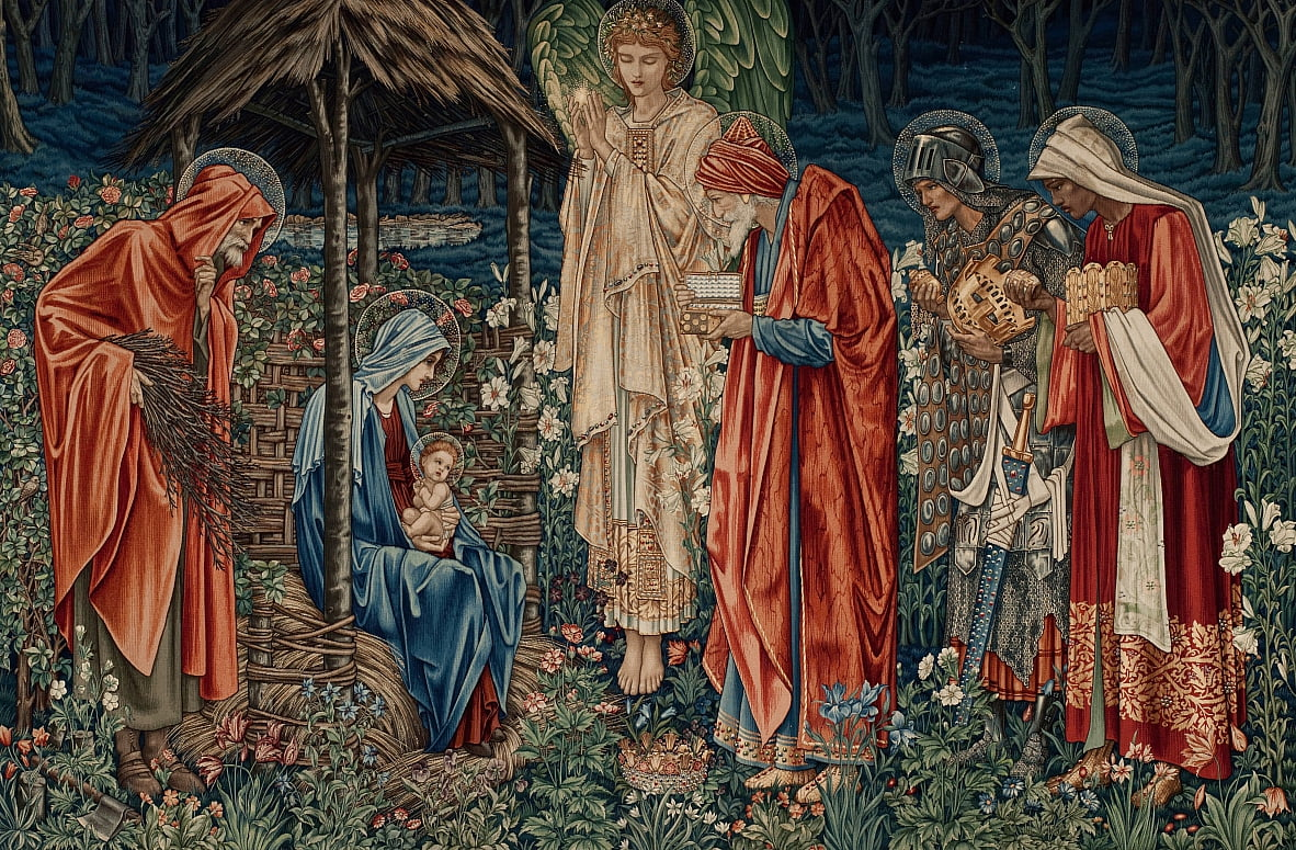 De aanbidding der koningen door Edward Burne Jones