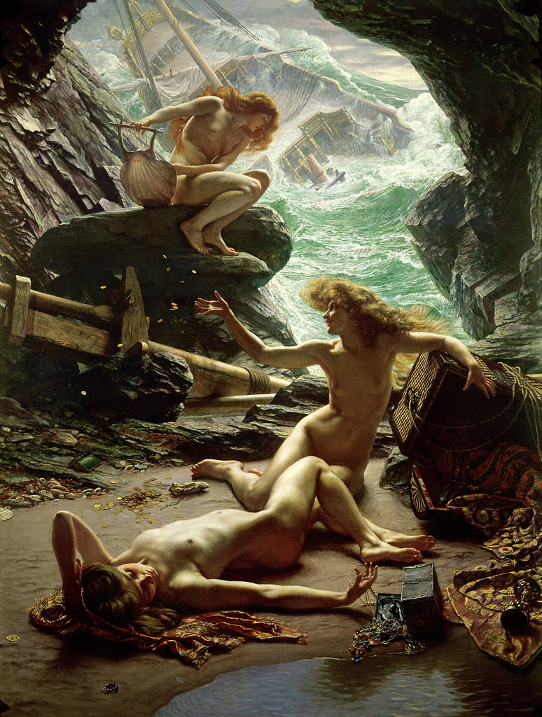 The Cave of the Storm Nymphs, 1903 door Edward John Poynter