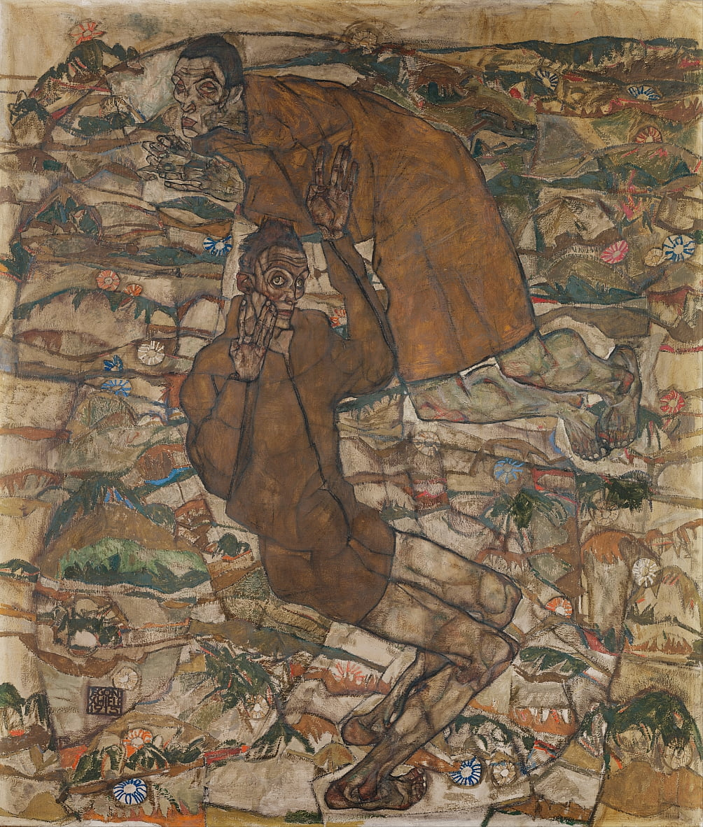Levitatie (The Blind II) door Egon Schiele