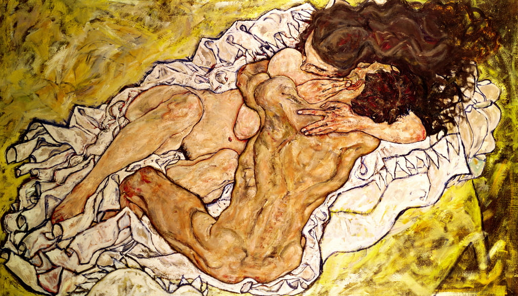 The Embrace, 1917 door Egon Schiele