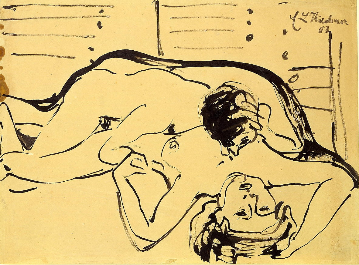 lovers door Ernst Ludwig Kirchner