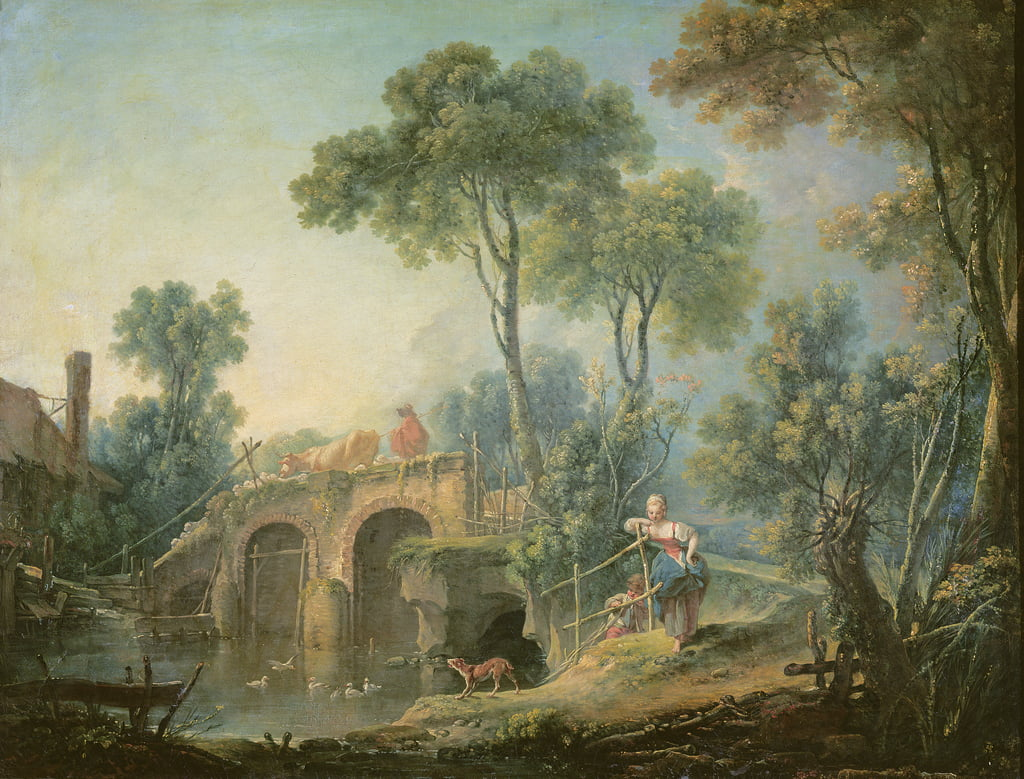 The Bridge, 1761 door François Boucher