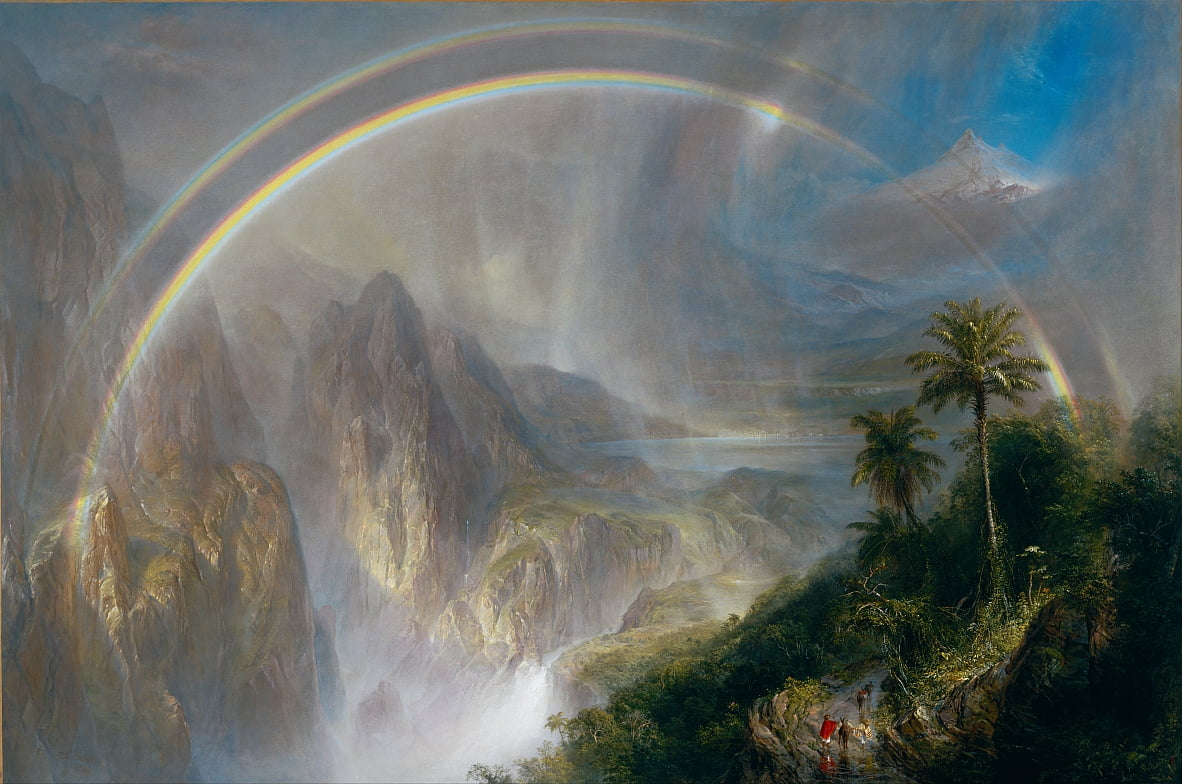 Regenseizoen in de tropen door Frederic Edwin Church
