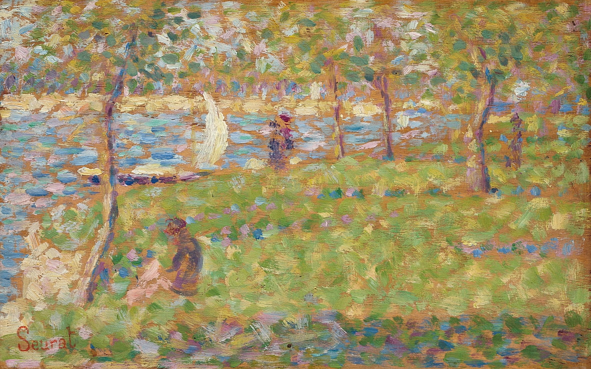 Studie voor 'The Great Jatte' door Georges Seurat