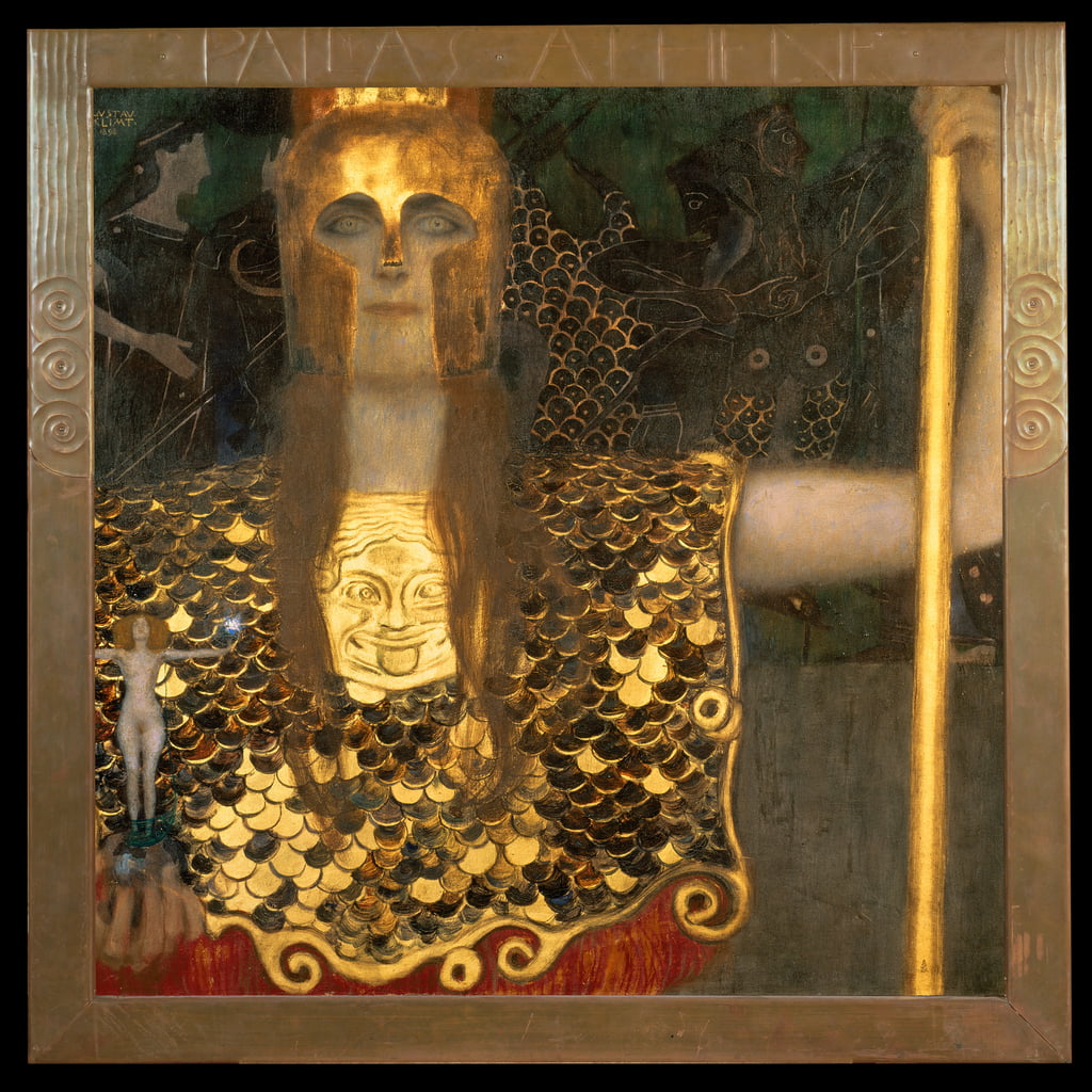 Minerva of Pallas Athena, 1898 door Gustav Klimt