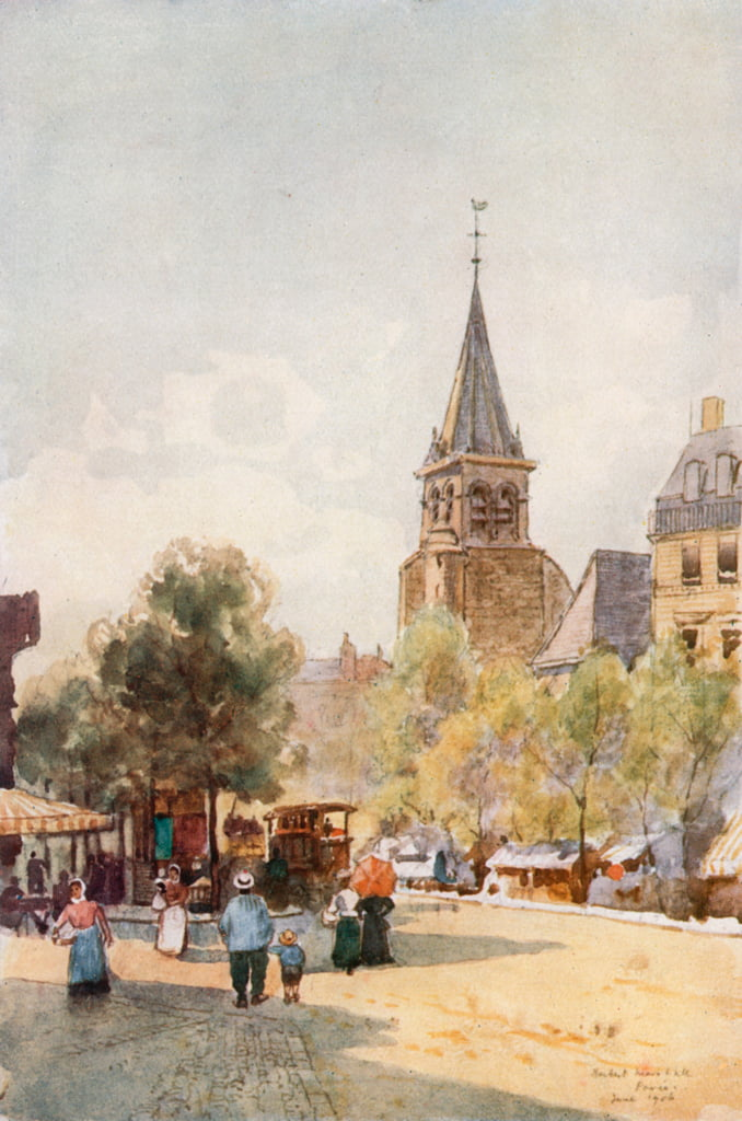 St. Germain des Pres, Parijs door Herbert Menzies Marshall