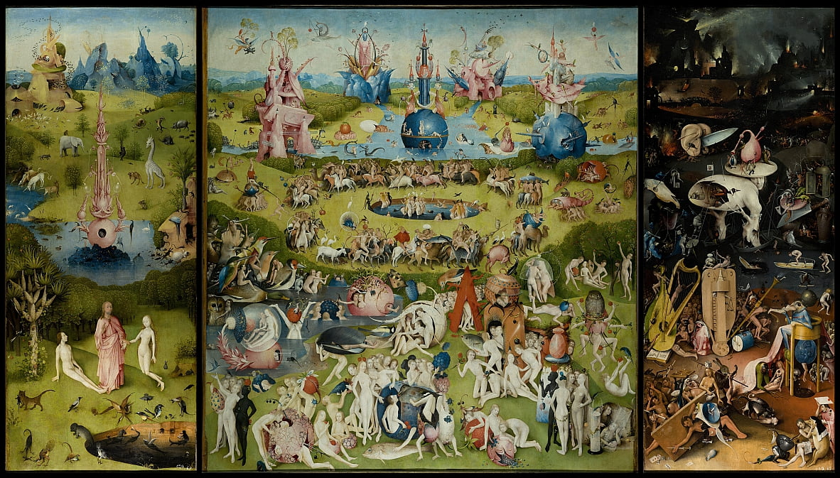The Garden of Earthly Delights door Hieronymus Bosch