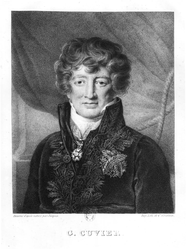 Portret van Georges Cuvier (1769-1832) door Jacques