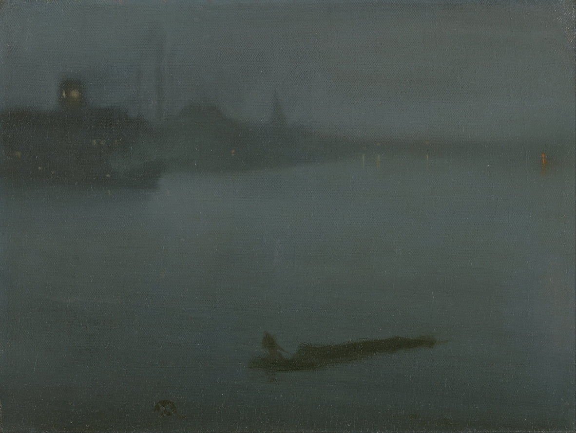 Nocturne in blauw en zilver door James Abbott McNeill Whistler