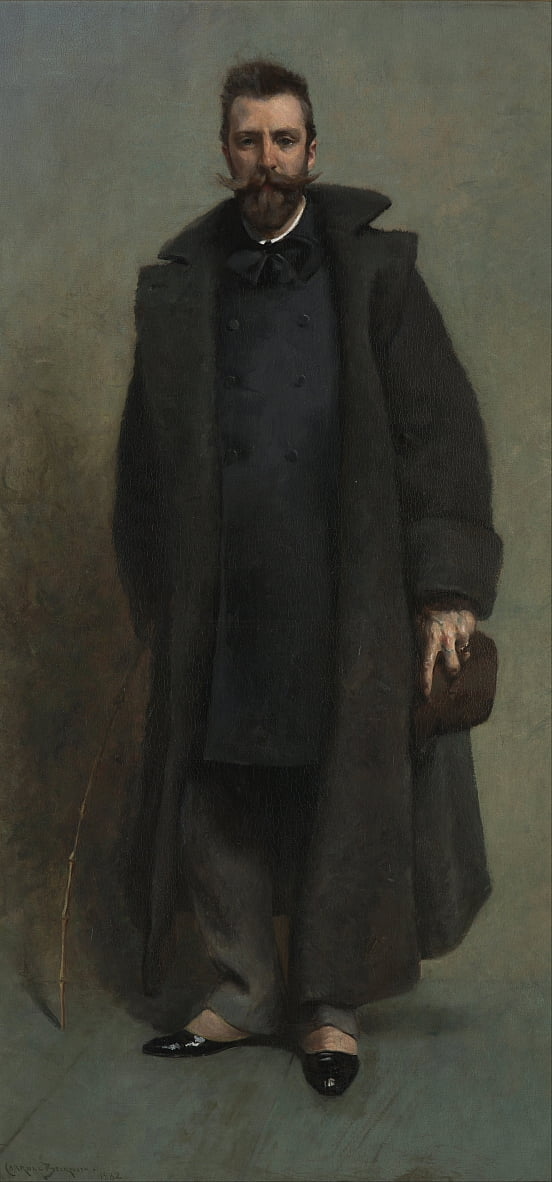Portret van William Merritt Chase door James Carroll Beckwith