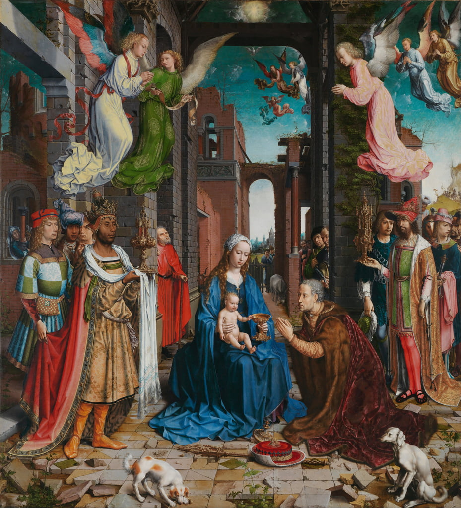 Aanbidding der koningen, 1510-5 door Jan Gossaert