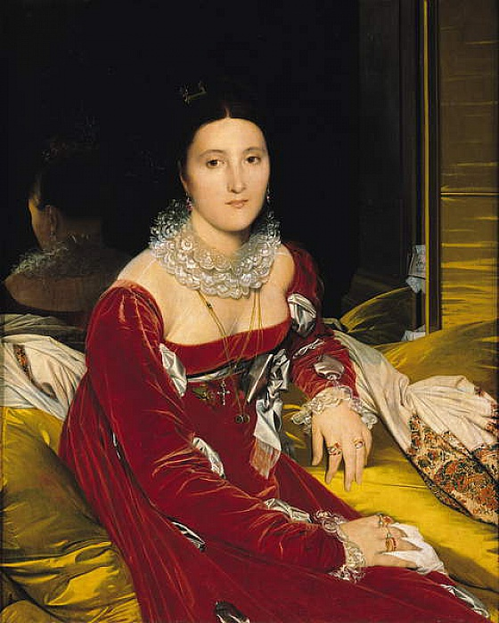 Madame de Senonnes, 1814-16 door Jean Auguste Dominique Ingres