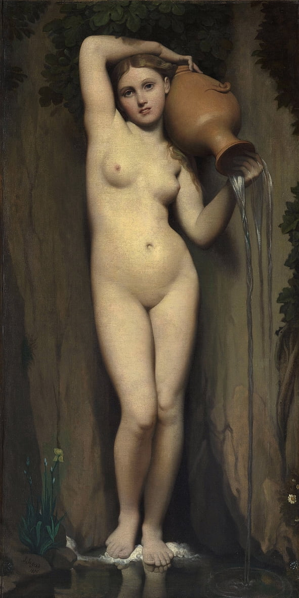De lente door Jean Auguste Dominique Ingres