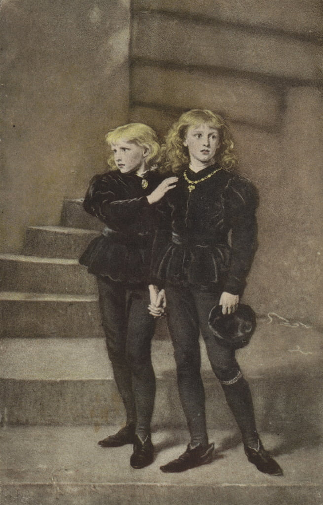 De twee prinsen Edward en Richard in de toren door John Everett Millais