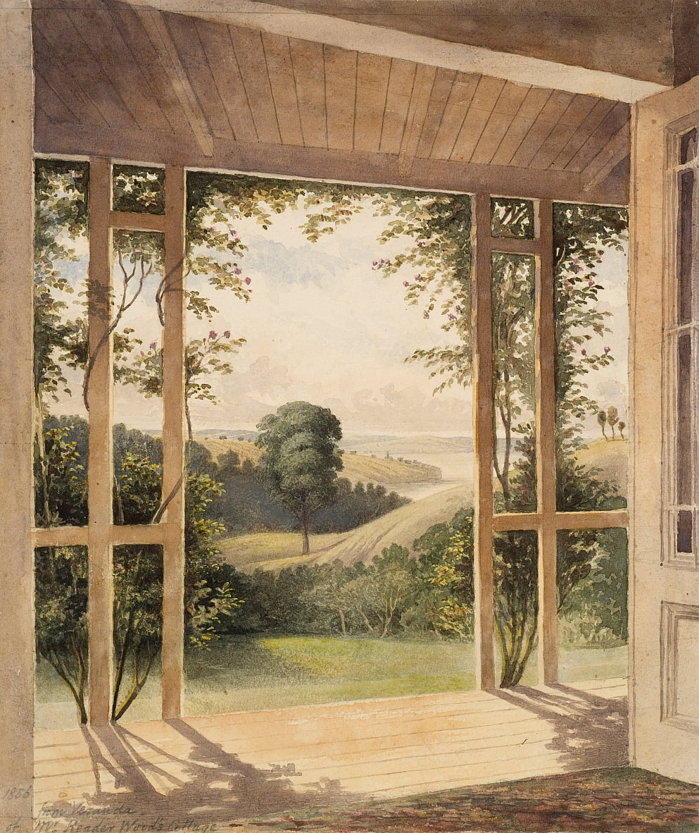 Auckland, uit de Veranda van Mr Reader Woods Cottage door John Kinder