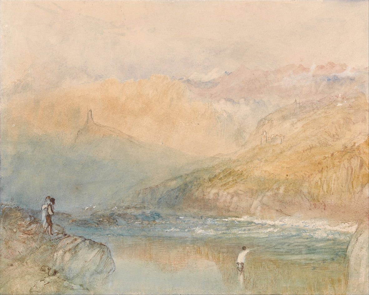 Op de Mosell, bij Traben Trarbach door Joseph Mallord William Turner