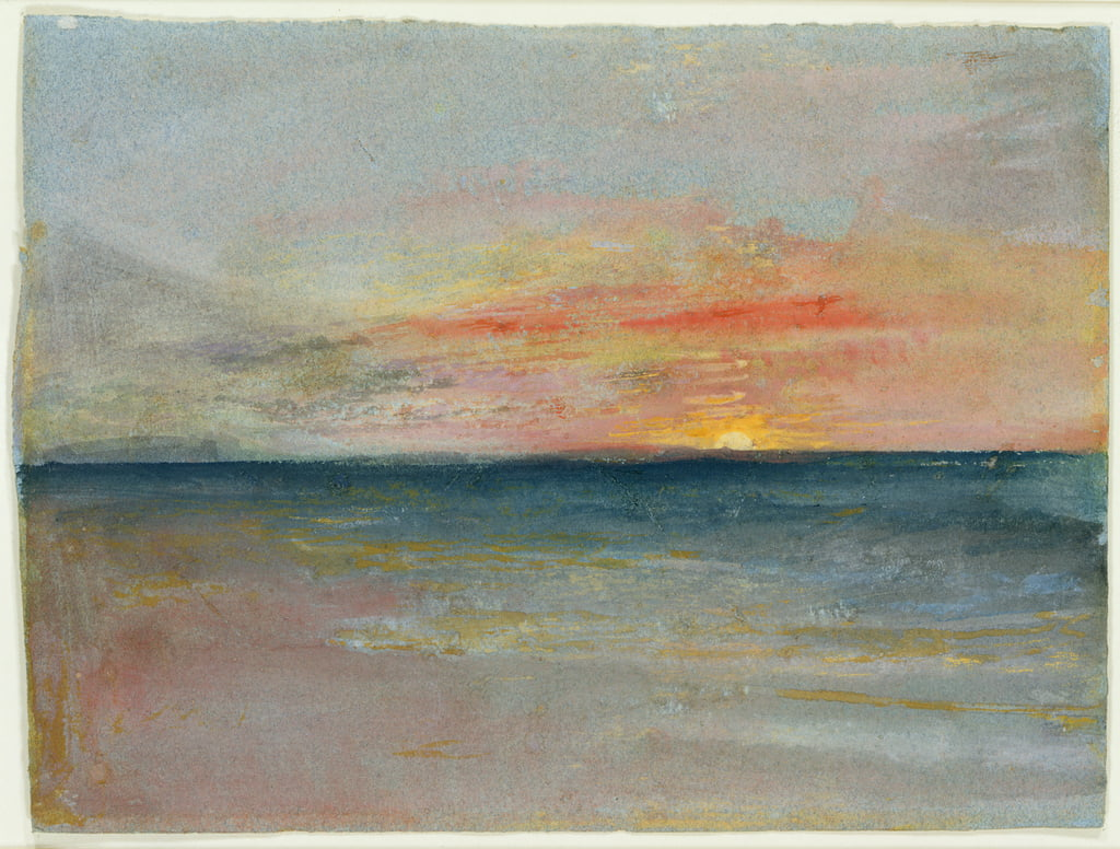 Sky Study door Joseph Mallord William Turner