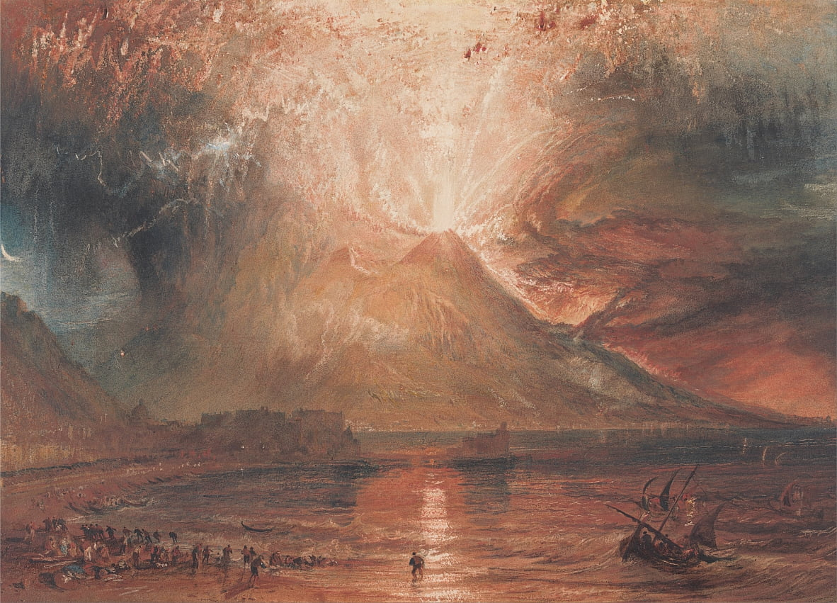 Vesuvius in Uitbarsting door Joseph Mallord William Turner